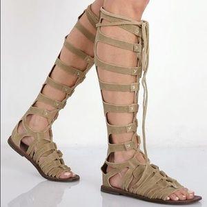 Free People Cypress Gladiator Sandal in Tan size 7